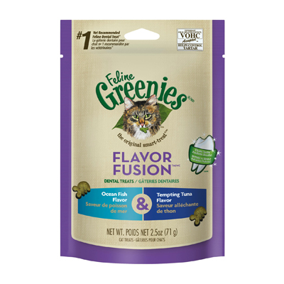 Feline Greenies® Flavor Fusion™ Dental Treats Ocean Fish/Tempting Tuna I003877