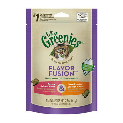 Feline Greenies® Flavor Fusion™ Dental Treats Savory Salmon/Oven Roasted Chicken I003878