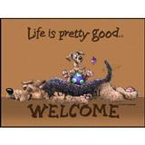 Life is Pretty Good® Welcome Mat A-H I003955e