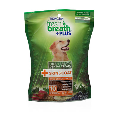 Tropiclean® Fresh Breath™ Dental Treats +Plus Skin & Coat I004251b