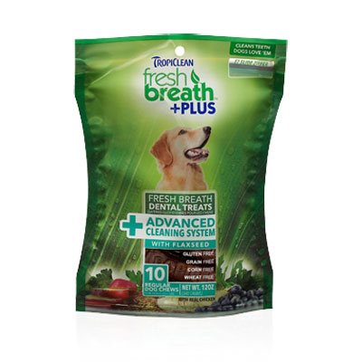 Tropiclean® Fresh Breath Dental Treats +Plus Advanced Cleaning System I004252b