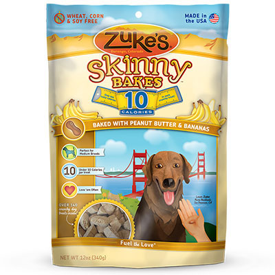 Zuke's® Skinny Bakes Mini 10 Calorie Dog Biscuits Peanut Butter 'n Banana Crunch I004325