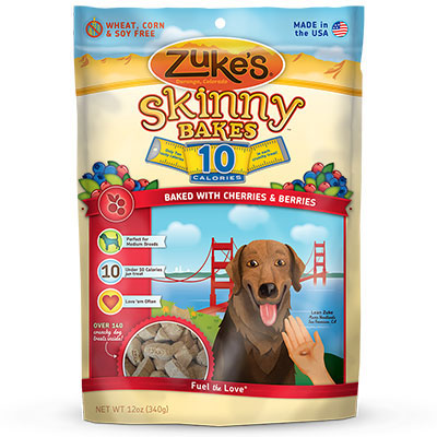 Zuke's® Skinny Bakes Mini 10 Calorie Dog Biscuits Cherry 'n Berry Crunch I004327