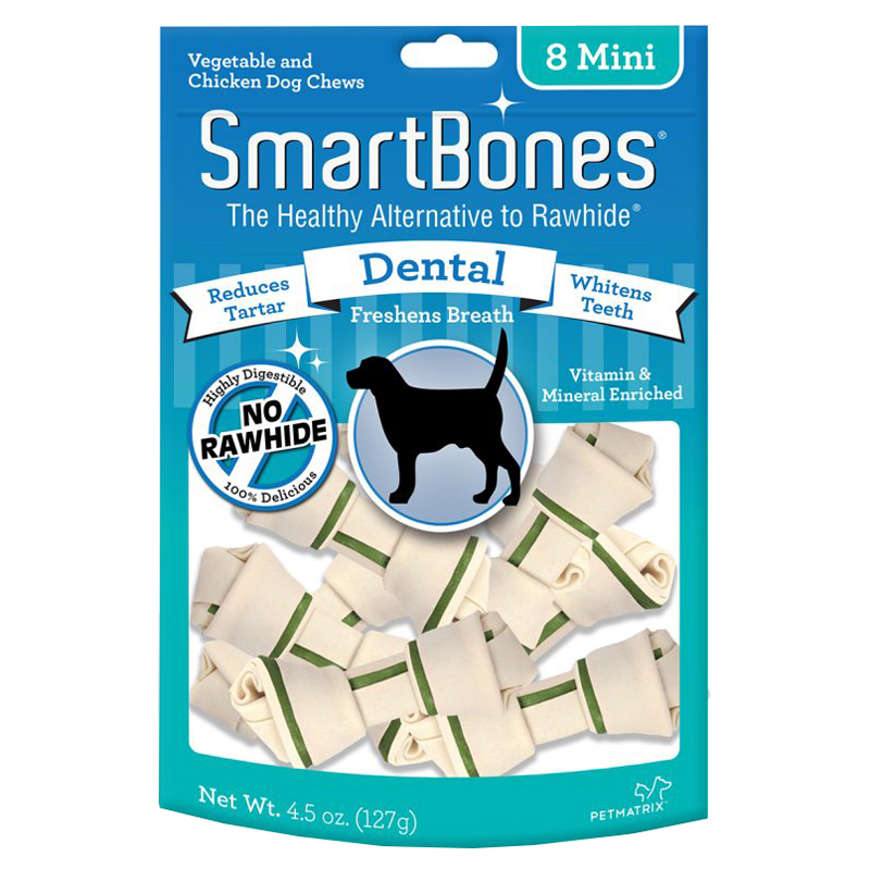 SmartBones® Vegetable & Chicken Mini Chews for Dogs Dental I004347b
