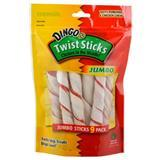 Dingo® Twist Sticks Jumbo Chicken Rawhide Twists, 9 pack I004777