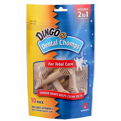 Dingo® Dental Chops for Total Care, 10 pack I004780