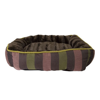 Petmate® Ultra Plush Dog Bed Rectangular Lounger with Chocolate Faux Fur I004879