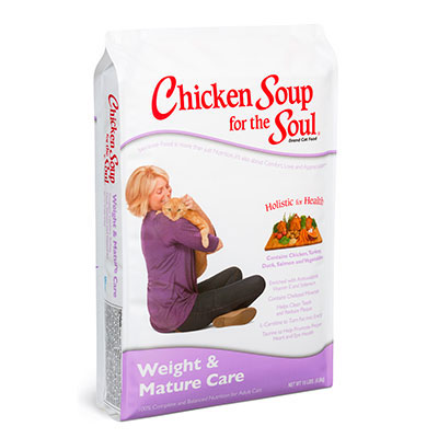 Chicken Soup for the Soul Weight and Mature Care Dry Cat Food 5 lbs. I005663