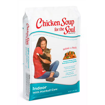 Chicken Soup for the Soul® Indoor with Hairball Care Dry Cat Food 5 lbs. I005664