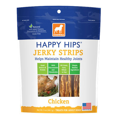 Dogswell® Happy Hips Jerky Strips Chicken I005694b