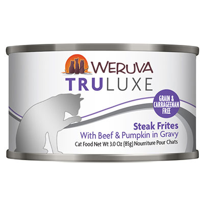 WERUVA TRULUXE Steak Frites With Beef & Pumpkin in Gravy Canned Cat Food 3 oz. I005755