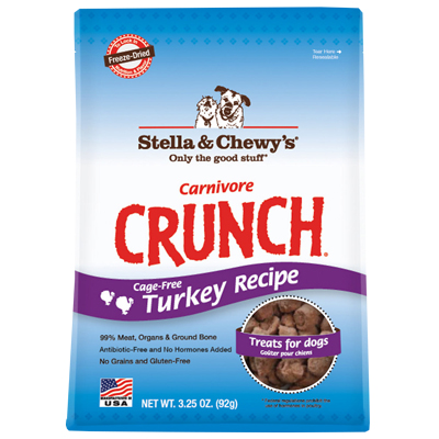 Stella & Chewy's® Carnivore Crunch Turkey 3.25 oz.  I005840