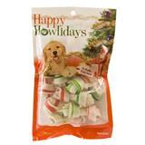 Pet Factory Happy Howlidays Mini Rawhide Bones 12 ct. I006083