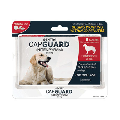 SENTRY® CAPGUARD™ for Dogs over 25 lbs. 6 ct. I006102
