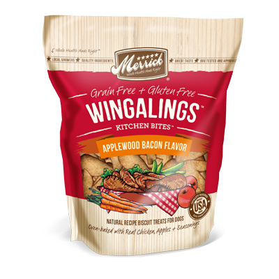 Merrick® Kitchen Bites Wingalings® Applewood Bacon 9 oz. I006188
