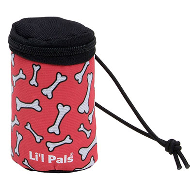 Coastal® Li'l Pals® Waste Bag Dispenser Red & White Bones I006340