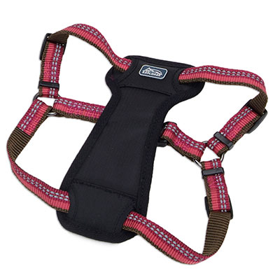 The Coastal K9 Explorer Reflective Adjustable Padded Dog Harness Berry I006404