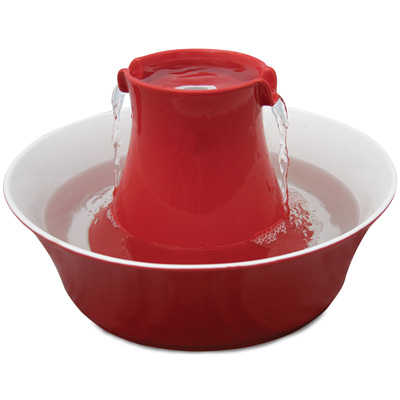 Drinkwell® Avalon Red Stoneware Fountain 70oz I006623
