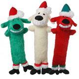 "Multipet Holiday Santa Loofa Dog Toy 12"" I006849"