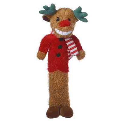 "Multipet Holiday Loofa Reindeer 12"" Dog Toy I006850"