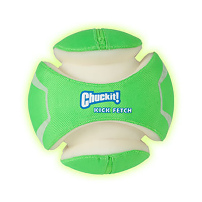 Chuckit® Max Glow™ Kick Fetch® Dog Toy I006928b