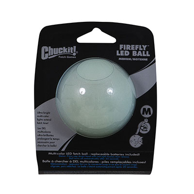 Chuckit® FireFly™ 1 Pack LED Medium Ball Dog Toy I006942
