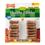 Nylabone® Healthy Edibles® Junior 2 in. Bacon/Roast Beef Variety 14 Pack I006950