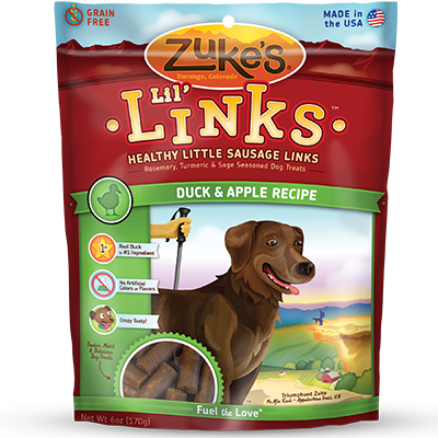 Zuke's® Lil Links™ Sausage Treats for Dogs Duck & Apple 6 oz.  I007063