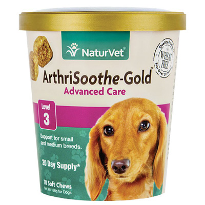 NaturVet® ArthriSoothe®-Gold Advanced Care Level 3 Support for Small Breeds Soft Chews 70 ct. I007162
