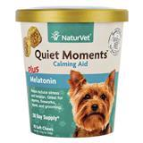 NaturVet® Quiet Moments™ Calming Aid Plus Melatonin Soft Chews 70 ct. I007165