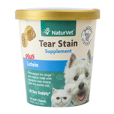 NaturVet® Tear Stain Supplement Plus Lutein Soft Chews 70ct I007168