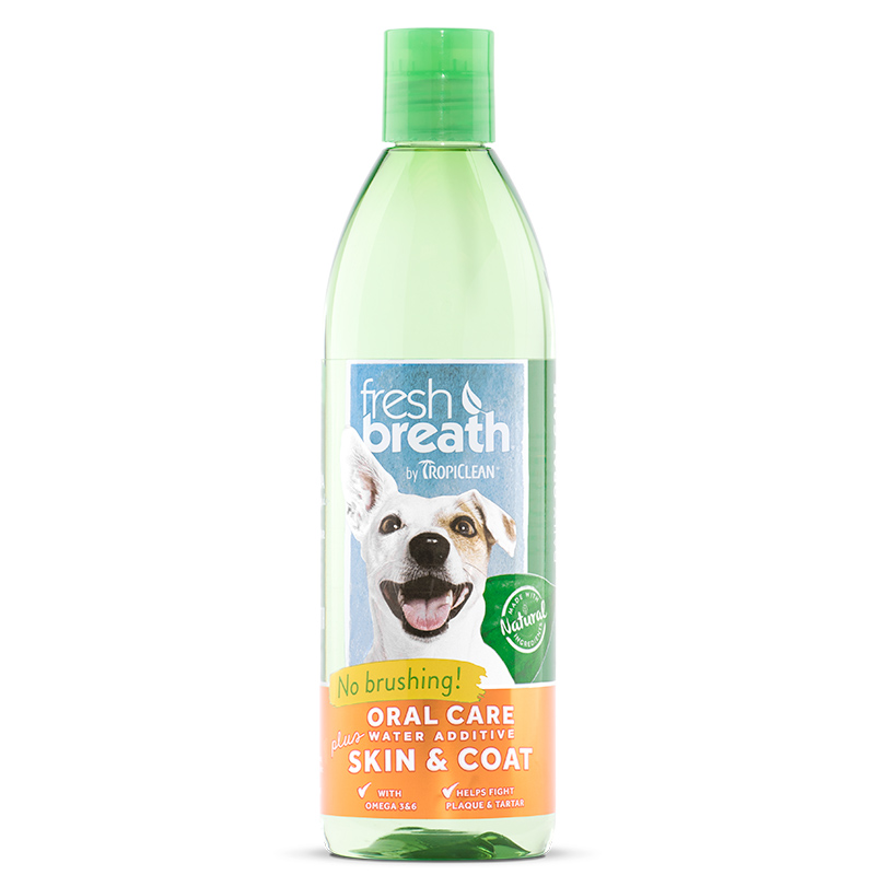 Tropiclean® Fresh Breath Plus Oral Care Water Additive Skin & Coat I007197e