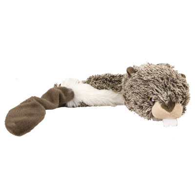 Multipet Bouncy Burrow Buddies™ Beaver Dog Toy I007386