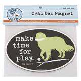Dog is Good® Oval Car Magnet Make Time for Play I007519