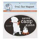 Dog is Good® Oval Car Magnet Never Camp Alone I007524