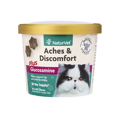 NaturVet® Aches & Discomfort Plus Glucosamine Cat Soft Chew Cup 60ct I007828