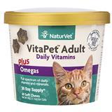 NaturVet® VitaPet™ Adult Plus Omegas Cat Soft Chew Cup 60ct I007829