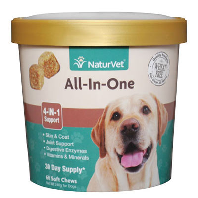 NaturVet® All-In-One 4-IN-1 Support Soft Chews I007830b