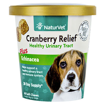 NaturVet® Cranberry Relief® Plus Echinacea Soft Chews for Dogs 60ct I007832