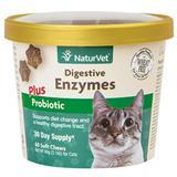 NaturVet® Digestive Enzymes Plus Probiotic Soft Chews for Cats 60ct I007833