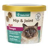 NaturVet® Hip & Joint Plus Omegas Soft Chews for Cats 60ct I007836