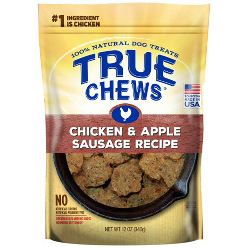 True Chews® Premium Sizzlers Dog Treats made with Real Chicken & Apple 12 oz. I008037