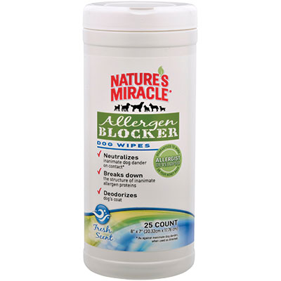 Nature's Miracle® Allergen Blocker Dog Wipes 25 ct. I008161