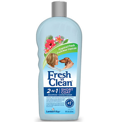 Lambert Kay® Fresh 'n Clean® 2-N-1 Short Coat Shampoo-Conditioner Tropical Fresh Scent 18 oz. I008306