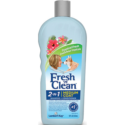 Lambert Kay® Fresh 'n Clean® 2-N-1 Medium Coat Shampoo-Conditioner Tropical Fresh Scent 18 oz. I008307