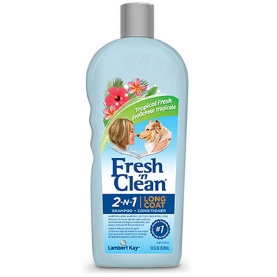 Lambert Kay® Fresh 'n Clean® Long Coat 2-N-1 Shampoo-Conditioner Tropical Fresh Scent 18 oz. I008308