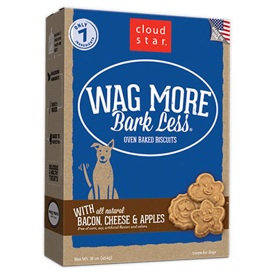 Cloud Star® Wag More Bark Less® Oven-Baked Biscuits with Bacon, Cheese, and Apple I008314e