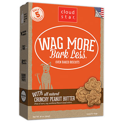 Cloud Star® Wag More Bark Less® Oven-Baked Biscuits with Crunchy Peanut Butter I008311b