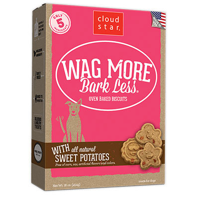 Cloud Star® Wag More Bark Less® Oven-Baked Biscuits with Sweet Potatoes 16 oz. I008313