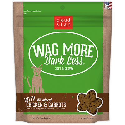 Cloud Star® Wag More Bark Less® Soft & Chewy Dog Treats with Chicken and Carrots 6 oz. I008319